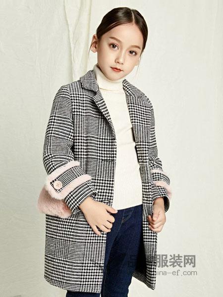 茵赛童装2018秋冬新款韩版羊毛呢子毛呢外套