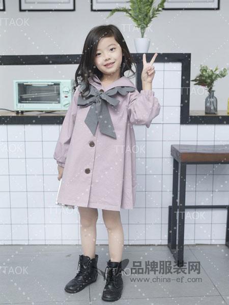 童淘库童装2018秋冬儿童外套大童小女孩童装中长款风衣