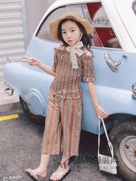 林馨儿童装2018春夏洋气雪纺两件套阔腿裤时尚套装