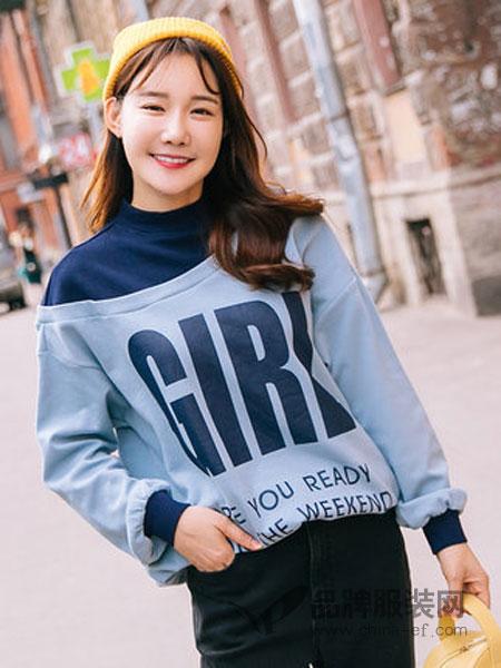 范奎恩女装2018秋冬宽松微胖遮肚子上衣显瘦洋气卫衣