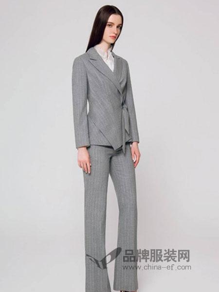 欧柏兰奴女装2018秋季新款西服+阔腿裤气质两件套