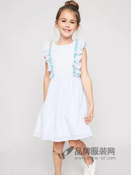 惠衣登童装2018春夏中大童舒适气质连衣裙裙