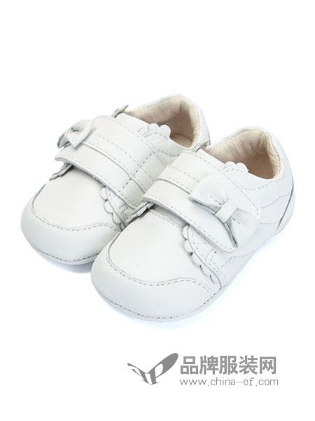 费儿的王子童装2018秋冬单鞋防滑软底室内鞋黑白色