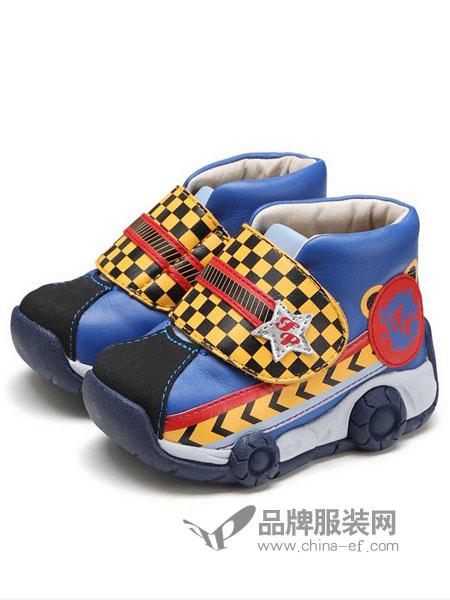 费儿的王子童装2018秋冬 英伦风时尚车车真皮短靴小皮靴