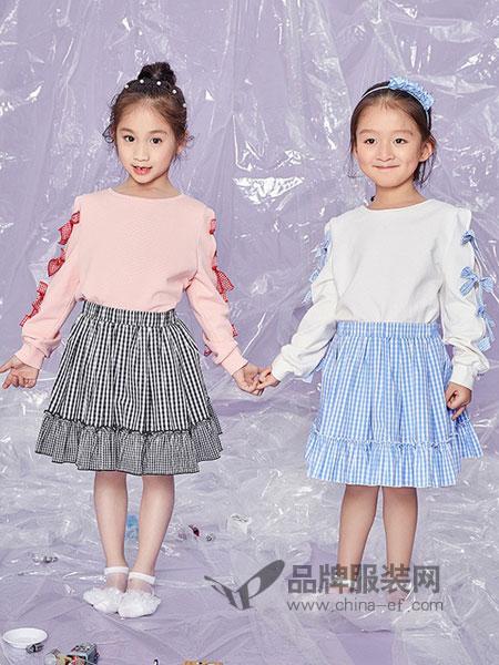 MISSOSE童装2018春夏短款卫衣连衣裙两件套装