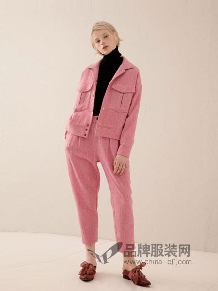 奕色女装2018秋冬新款开衫短外套休闲裤矮个子显高套装甜美气质套装