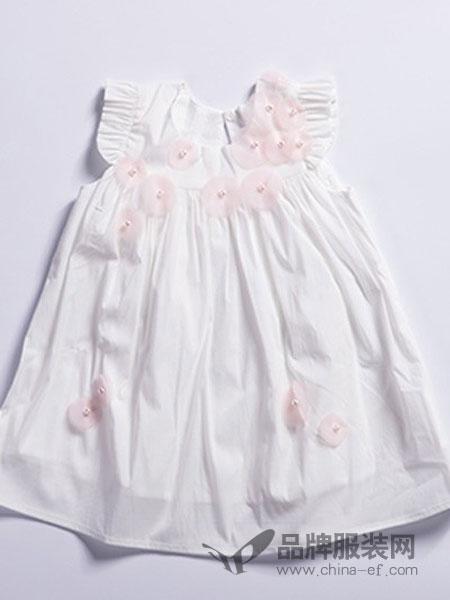尚芭蒂童裝刺繡無袖連衣裙