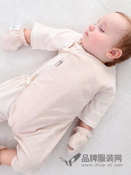 尚芭蒂童装长袖侧绑带连体衣