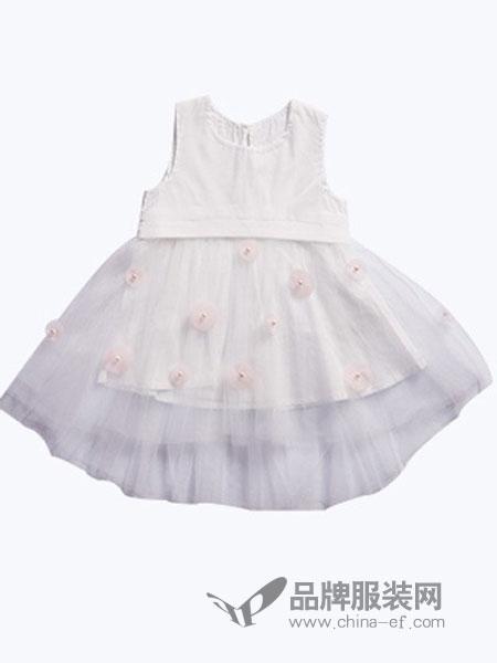 尚芭蒂童装无袖蓬蓬裙