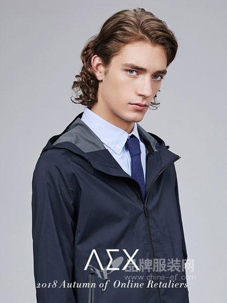 AEX男装2018秋冬连帽款功能型防风防泼水休闲夹克外套
