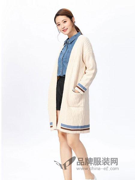 娜么美女装2018秋冬中长款针织外套