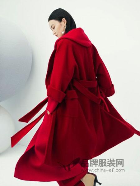 莱茵女装2018秋冬宽松风衣中长款修身显瘦夹克外套