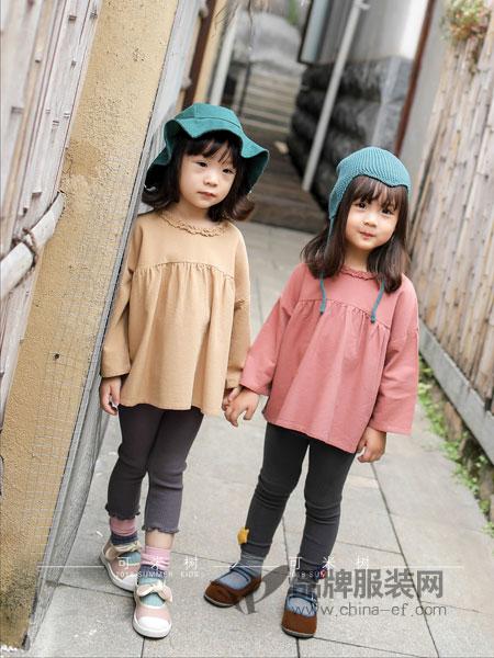 DC-kids童装2018秋冬圆肩袖口系带排扣八分袖圆领棉麻衬衫