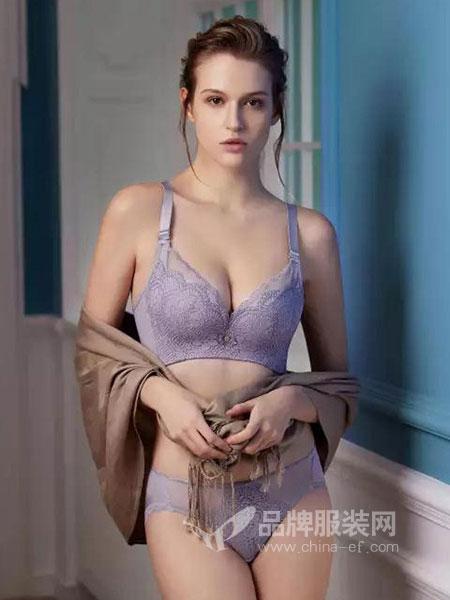 罗丽丝内衣2018秋冬塑身美体内衣 小胸厚杯减压软钢圈文胸