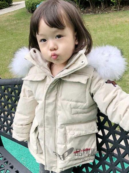 莫小汐童装2018秋冬儿童韩版羽绒服 女童大毛领连帽保暖外套