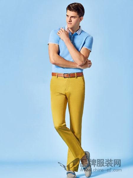 男人智造男装2018夏季短袖t恤薄纯色翻领半袖polo衫天丝棉透气