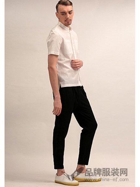 825ING休闲2018新款纯色绅士短袖衬衫