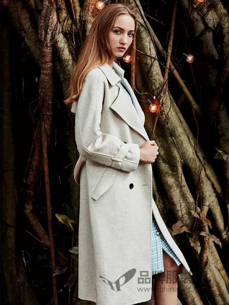 麦寻女装2018秋冬气质外套修身毛呢大衣女呢子