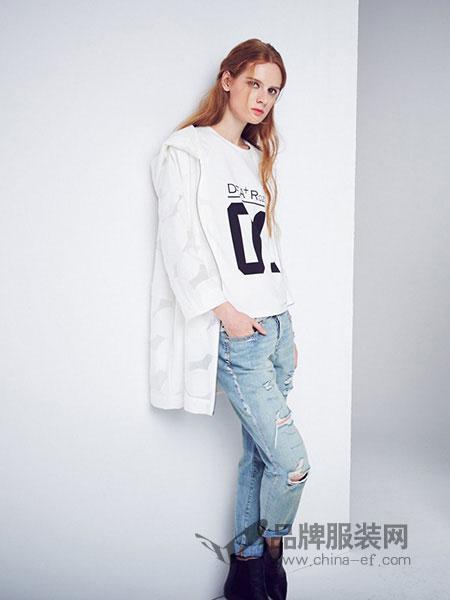D+女装薄款图案中长款外套