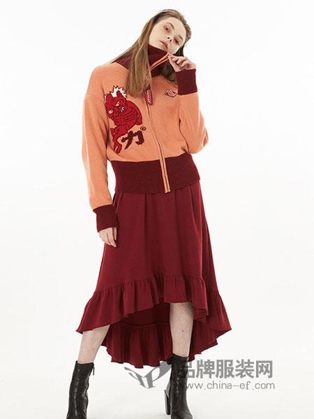 YOUPPIE!女装2018秋冬新款慵懒风时尚个性针织衫