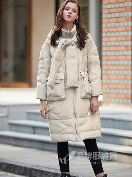 SITI女装2018秋冬新款韩版宽松加厚过膝