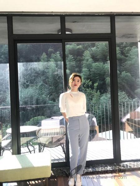 MHE快时尚女装女装2018秋冬西装裤女高腰垂感阔腿裤chic直筒裤超火裤子复古长裤
