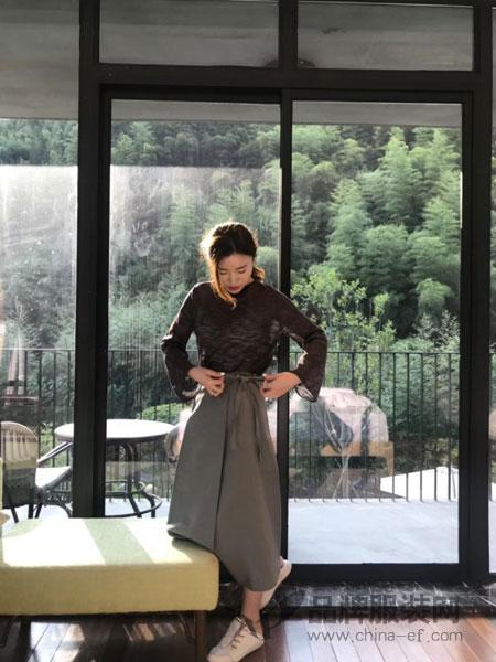 MHE快时尚女装女装2018秋冬绑带半身下摆裙子