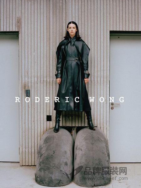 RODERIC WONG女装2018秋冬复古风衣气质显瘦长款过膝chic外套潮