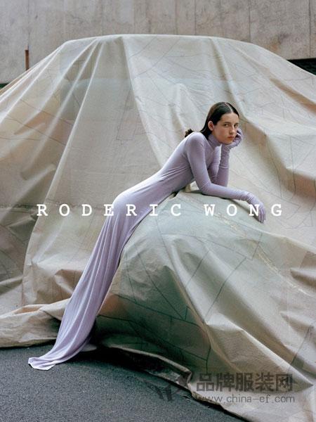 RODERIC WONG女装2018秋冬修身长款长袖薄款连衣裙