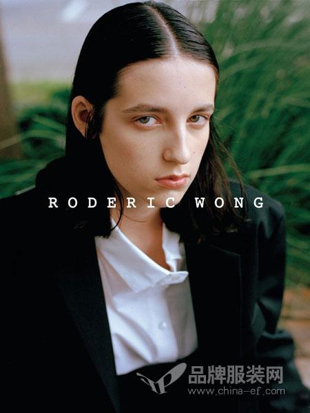 RODERIC WONG女装2018秋冬方领白色衬衫女修身纯色基本款女士休闲衬衣