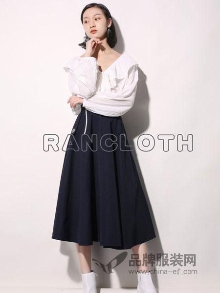 rancloth/然可时女装2018秋冬短款文艺复古百褶大码阔脚裙裤