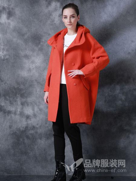 戴莉格琳女装2018秋冬蚕茧式宽松款羊毛呢大衣女毛呢外套韩版毛呢外套