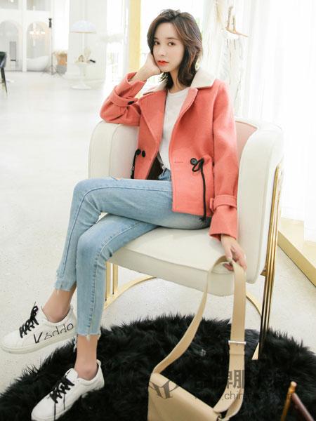 左韩女装2018秋冬羊羔毛呢外套修身显瘦休闲上衣宽松夹克外套