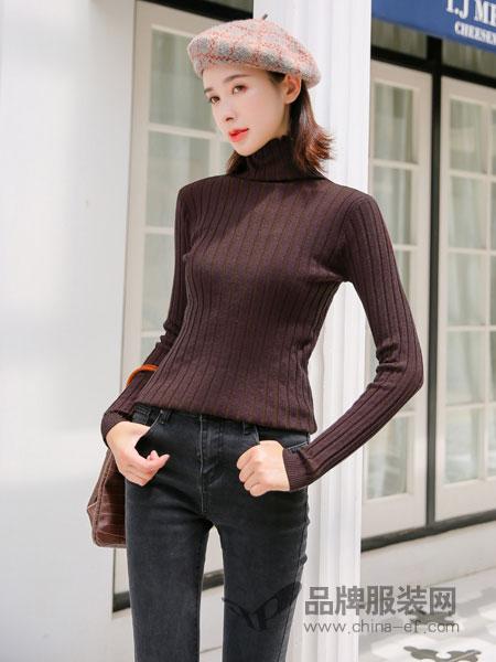左韩女装2018秋冬修身韩版百搭上衣学生打底高领毛衣