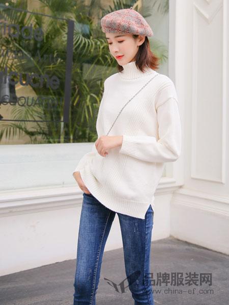 左韩女装2018秋冬宽松单穿套头线衣百搭针织衫