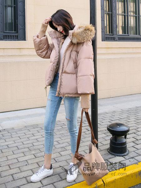 左韩女装2018秋冬bf宽松加厚ins面包服原宿风羽绒棉服