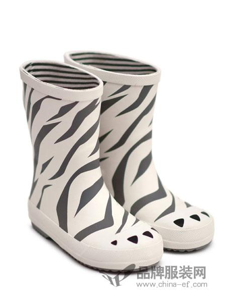 BOXBO童鞋2018秋冬斑马条纹高筒靴