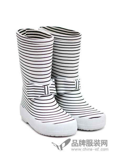 BOXBO童鞋2018秋冬条纹蝴蝶结高筒靴
