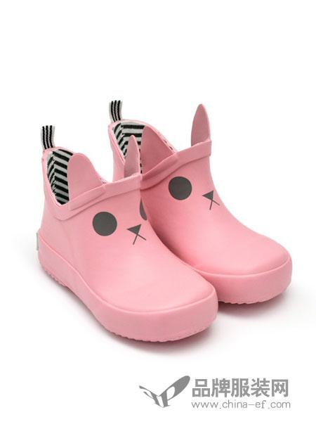 BOXBO童鞋2018秋冬粉色图案低筒靴