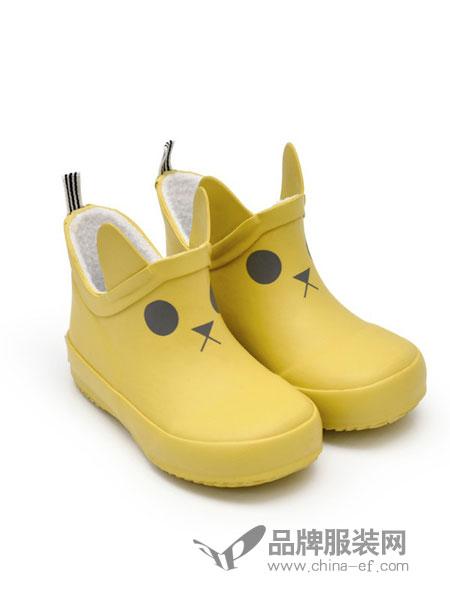 BOXBO童鞋2018秋冬黄色图案低筒靴