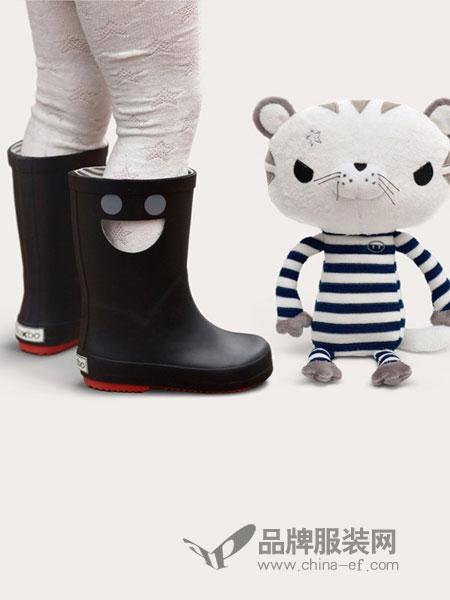 BOXBO童鞋2018秋冬笑脸黑色高筒靴