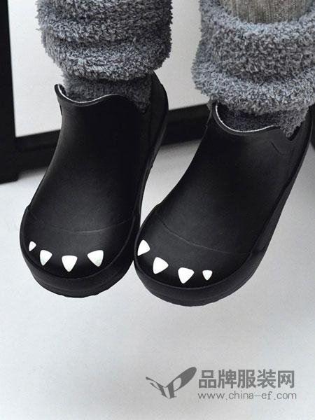 BOXBO童鞋2018秋冬黑色低筒靴