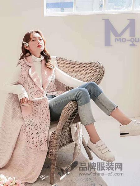 M+女装2018秋冬西装领 彩条撞色长款宽松羊毛呢大衣