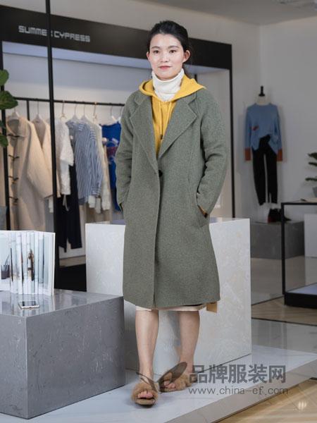 IreneCee女装2018秋冬新款浅灰色毛呢外套女中长款长袖羊毛大衣