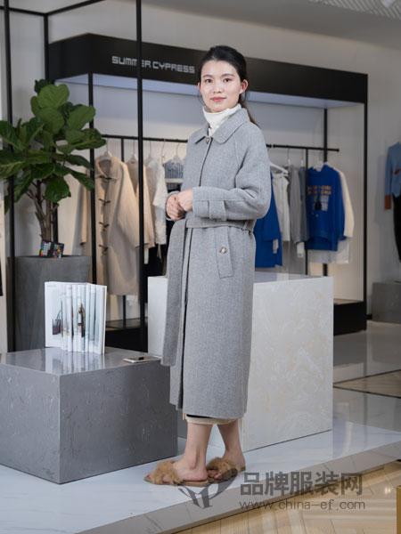 IreneCee女装2018秋冬气质人字纹羊毛呢外套