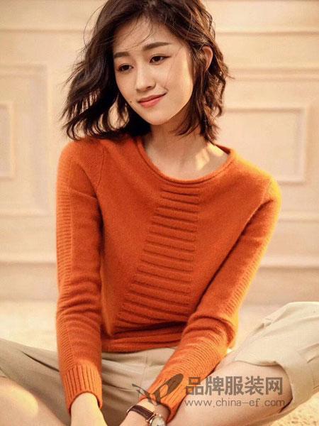 夏米朵女装2018秋冬套头宽松双股加厚显瘦针织衫毛衣