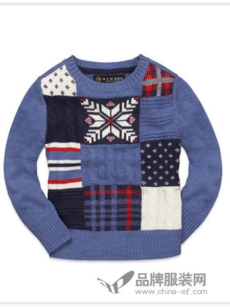 rtw kids童装2018秋冬针织毛衣儿童美式休闲保暖上衣
