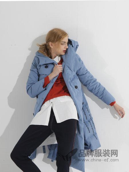 ZIRONG子容女装2018秋冬新款韩版修身连帽保暖棉衣