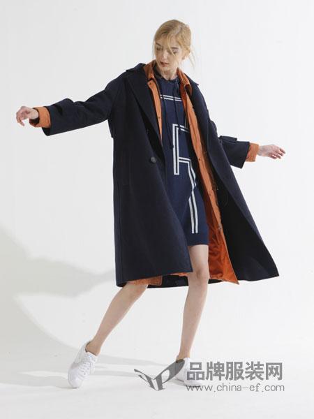 ZIRONG子容女装2018秋冬中长款西服长袖时尚百搭休闲宽松外套
