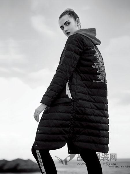 你即永恒女装2018秋冬新款韩版宽松连帽棉衣外套
